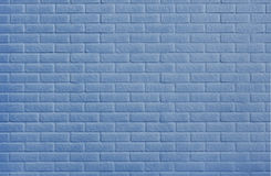 Wall. Blue painted brickwork wall background Royalty Free Stock Photos