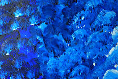 Blue painted canvas Stock Photography
