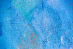 Blue painted canvas background Stock Images