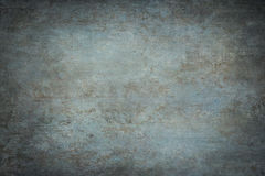 Blue painted canvas or muslin studio backdrop Stock Photo