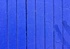 Blue Painted Fence Stock Photography