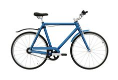 A blue painted frame bicycle for adults royalty free stock photo