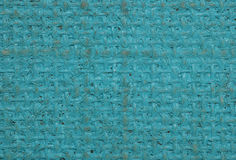 Blue painted hessian canvas abstract Royalty Free Stock Photos