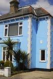 Blue painted house in Bognor Regis.UK Royalty Free Stock Photos