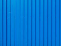Blue painted iron fence Stock Images