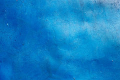 Blue painted metal plate background texture. Stock Photo