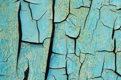 Rusty metallic surface blue paint. Blue painted metal with rust texture. Abstract background stock image