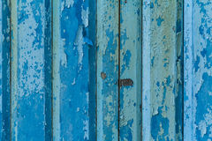 Blue painted old Wood Royalty Free Stock Image