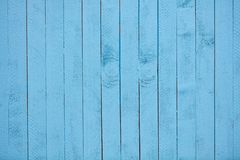 Blue painted old wooden background or texture royalty free stock image