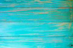 Blue painted old wooden background Royalty Free Stock Images