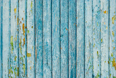 Blue Painted Old Wooden Fence Royalty Free Stock Images