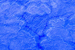 Blue painted paper tissue Royalty Free Stock Images