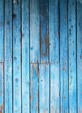 Blue painted planks Stock Images