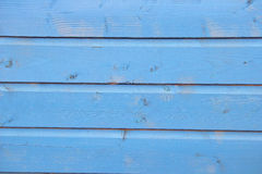 blue painted planks of wood Royalty Free Stock Images