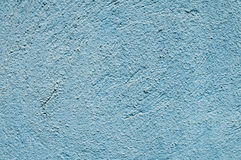 Blue painted plaster house wall Royalty Free Stock Image
