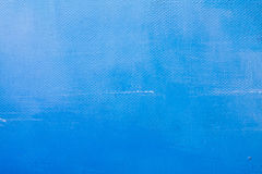 Blue painted texture. Blue painted canvas texture. Acrylic color paint stock images
