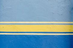 Blue painted wall Stock Photos