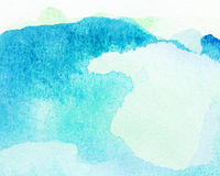 Blue painted watercolor background Royalty Free Stock Images