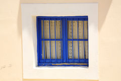 Blue painted window Royalty Free Stock Photography