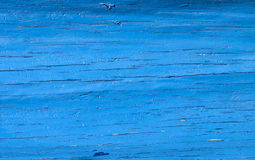 Blue painted wood - RAW format Royalty Free Stock Photo
