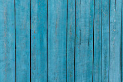 Blue painted wood planks Royalty Free Stock Images