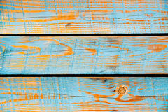Blue painted wood texture, vector background Stock Images