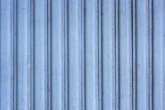 A blue painted wooden wall Royalty Free Stock Photos