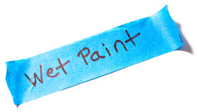 Blue Painters Tape on White Royalty Free Stock Photo