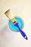Blue painting Royalty Free Stock Image