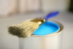 Blue painting Stock Images