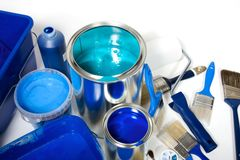 Blue painting Royalty Free Stock Photo