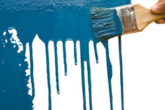 Blue painting Royalty Free Stock Images