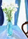 blue painting vase Στοκ φωτογραφία με δικαίωμα ελεύθερης χρήσης