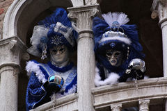 Blue pair. In Venice Royalty Free Stock Images