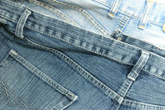 Blue pair of jeans waist back Stock Photography