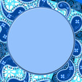 Blue paisley border Royalty Free Stock Images