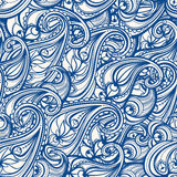 Blue paisley Royalty Free Stock Image