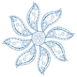 Blue paisley mandala Stock Image
