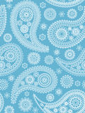 Blue paisley pattern. Royalty Free Stock Photos