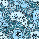 Blue paisley pattern Stock Photography