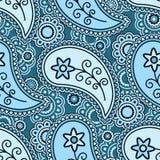 Blue paisley pattern Stock Photography