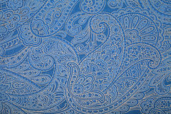 Blue paisley pattern wallpaper Stock Photography