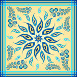 Blue paisley scarf Royalty Free Stock Image