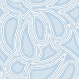Blue paisley Royalty Free Stock Photography