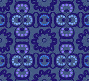 Blue paisley seamless tile royalty free stock image