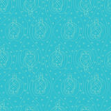 Blue paisley Stock Photography