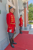 Blue Palace guards Royalty Free Stock Image