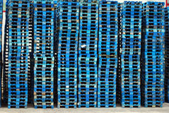 Blue Pallet stack Stock Photography