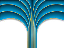 Blue palm Stock Photo