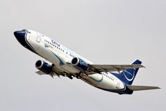 Blue Panorama Airlines Boeing 737 Photo stock